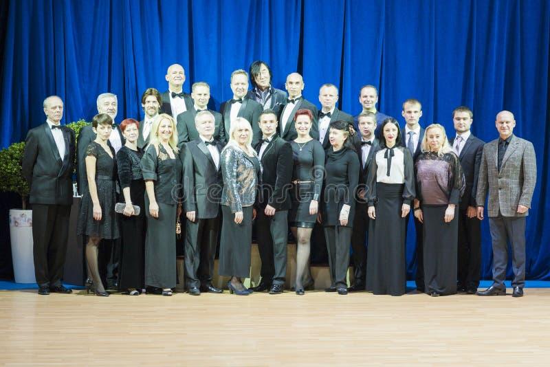 Μινσκ-Λευκορωσία, στις 19 Οκτωβρίου 2014: Η ομάδα intermational του profe στοκ εικόνες
