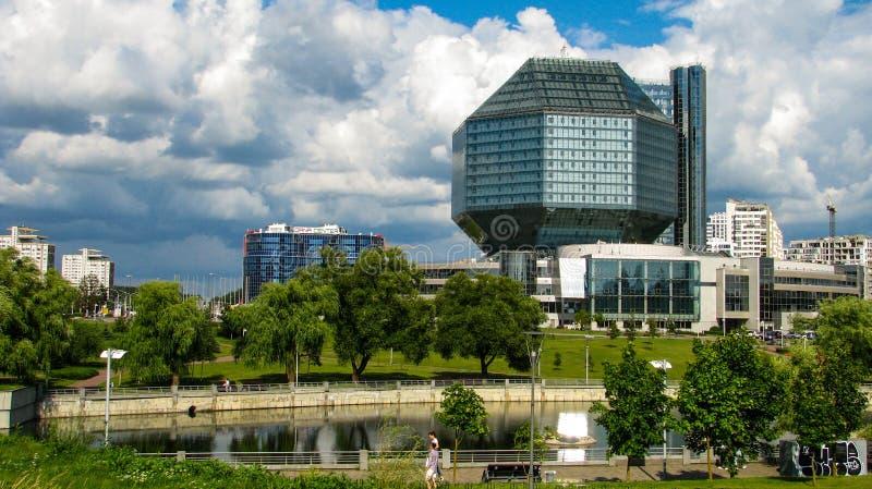 ΜΙΝΣΚ, ΛΕΥΚΟΡΩΣΙΑ - 10 Ιουλίου 2018: Εθνική βιβλιοθήκη της Λευκορωσίας στοκ φωτογραφία με δικαίωμα ελεύθερης χρήσης