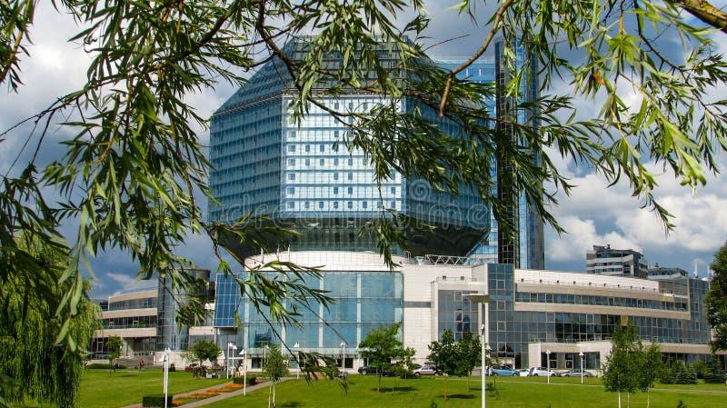 ΜΙΝΣΚ, ΛΕΥΚΟΡΩΣΙΑ - 10 Ιουλίου 2018: Εθνική βιβλιοθήκη της Λευκορωσίας στοκ φωτογραφία