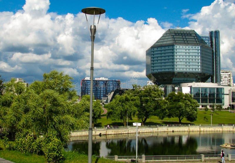 ΜΙΝΣΚ, ΛΕΥΚΟΡΩΣΙΑ - 10 Ιουλίου 2018: Εθνική βιβλιοθήκη της Λευκορωσίας στοκ εικόνες με δικαίωμα ελεύθερης χρήσης