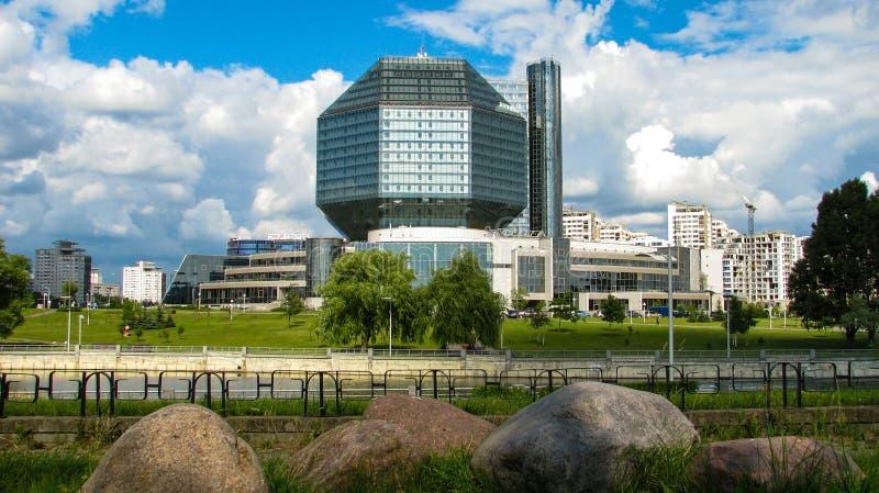 ΜΙΝΣΚ, ΛΕΥΚΟΡΩΣΙΑ - 10 Ιουλίου 2018: Εθνική βιβλιοθήκη της Λευκορωσίας στοκ εικόνα με δικαίωμα ελεύθερης χρήσης