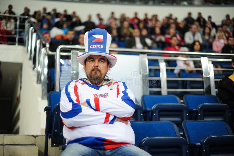 ΜΙΝΣΚ, ΛΕΥΚΟΡΩΣΙΑ - 10 ΜΑΐΟΥ 2014: Το πρωτάθλημα χόκεϋ παγκόσμιου πάγου στοκ εικόνα με δικαίωμα ελεύθερης χρήσης