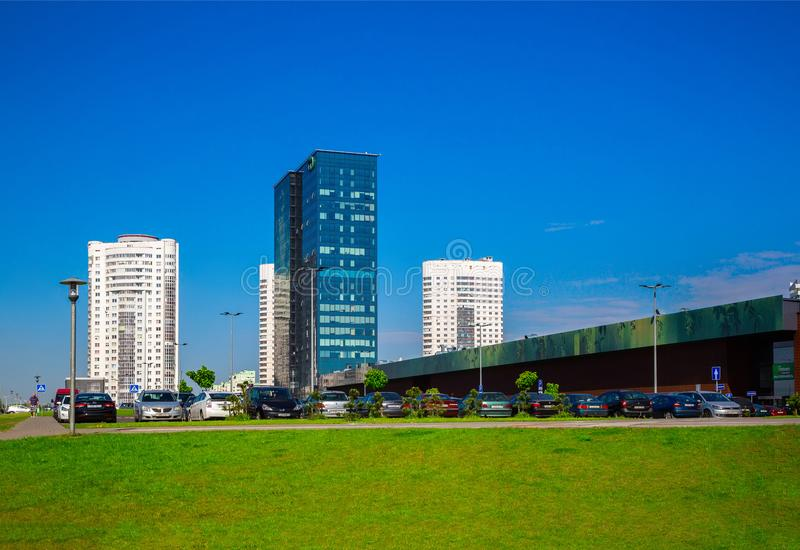 Μινσκ, σύγχρονη αρχιτεκτονική στοκ εικόνες