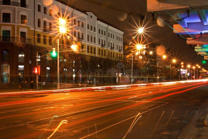 Μινσκ τη νύχτα στοκ φωτογραφίες με δικαίωμα ελεύθερης χρήσης