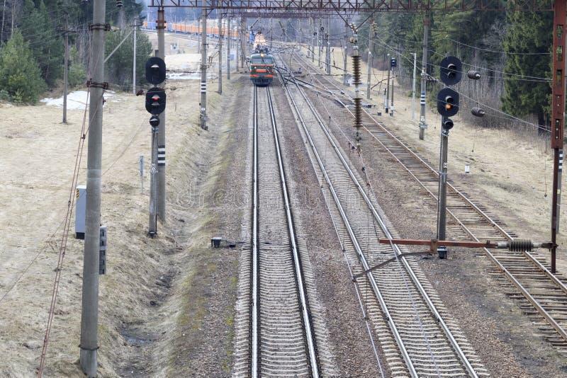 Μινσκ belatedness 19 Μαρτίου 2019 Φορτηγό τρένο επάνω από την όψη στοκ φωτογραφίες με δικαίωμα ελεύθερης χρήσης