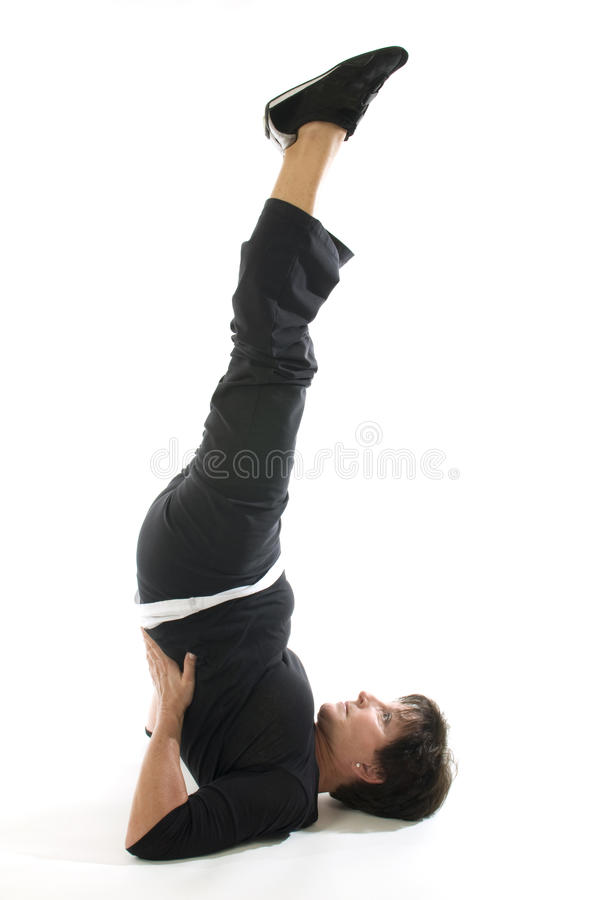 μισή γιόγκα γυναικών θέσης  στοκ φωτογραφία