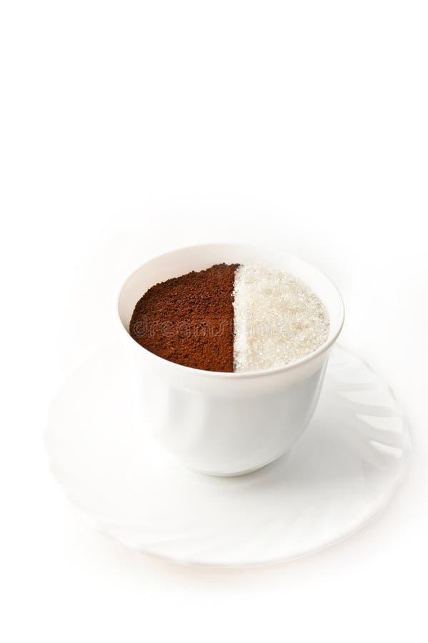 μισή ζάχαρη καφέ στοκ φωτογραφία