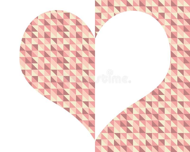 Μισή και μισή καρδιά απεικόνιση αποθεμάτων