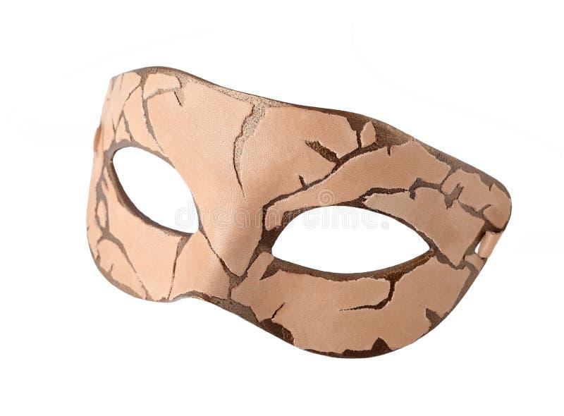 Μισή μάσκα καρναβαλιού δέρματος στο ύφος Steampunk στοκ φωτογραφίες με δικαίωμα ελεύθερης χρήσης