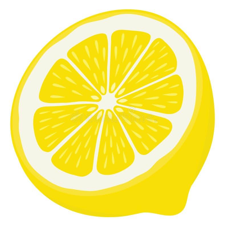 Μισή φέτα λεμονιών που απομονώνεται στο άσπρο υπόβαθρο στοκ φωτογραφίες με δικαίωμα ελεύθερης χρήσης