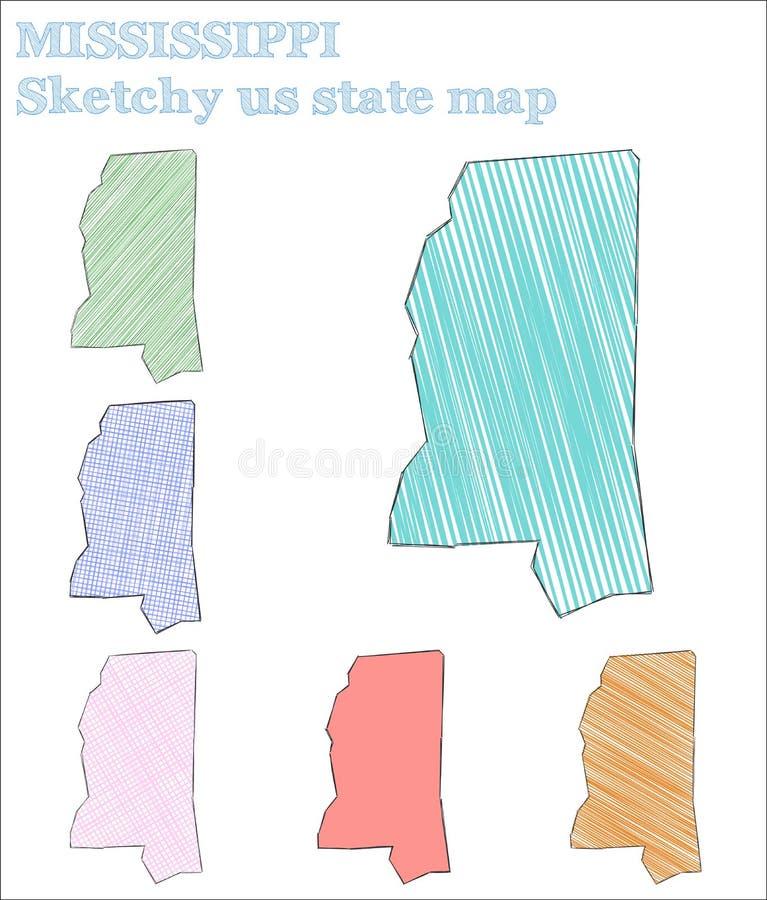 Μισισιπής περιγραμματικός εμείς κράτος απεικόνιση αποθεμάτων