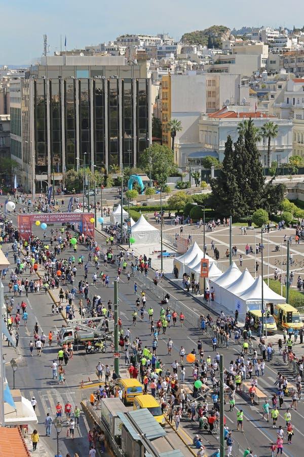 Μισός μαραθώνιος της Αθήνας στοκ εικόνες
