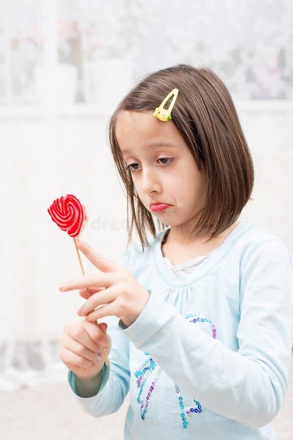 Μισός lollipop στοκ φωτογραφία