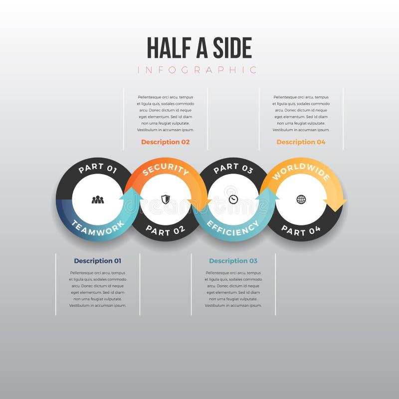 Μισό δευτερεύον Infographic ελεύθερη απεικόνιση δικαιώματος