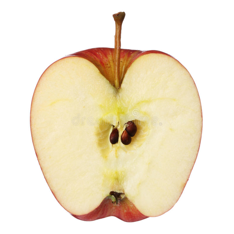 Μισό μήλο στοκ εικόνα με δικαίωμα ελεύθερης χρήσης