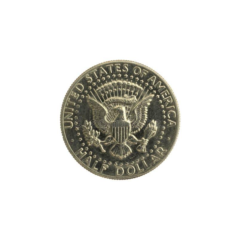 Μισό νόμισμα Ηνωμένες Πολιτείες της Αμερικής δολαρίων στοκ εικόνα με δικαίωμα ελεύθερης χρήσης