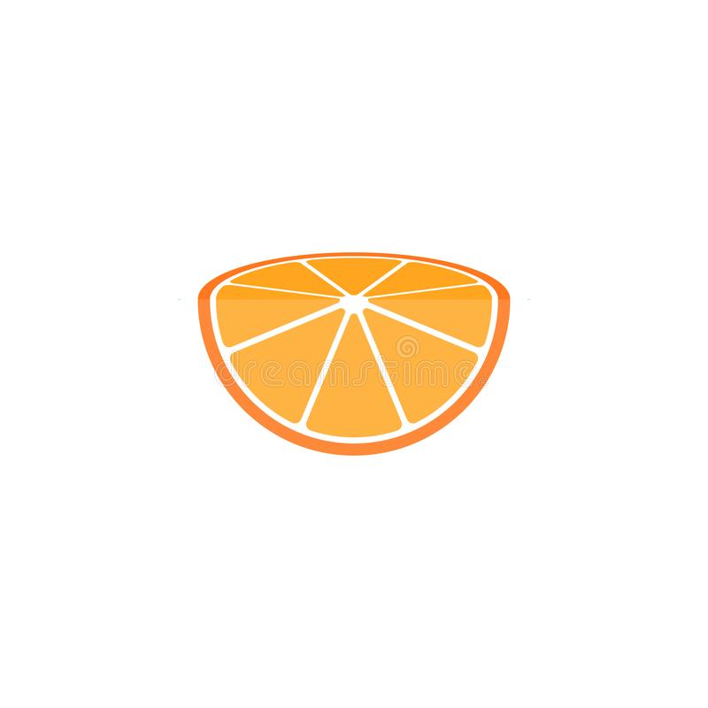 Μισό πορτοκαλί λογότυπο φετών διανυσματική απεικόνιση