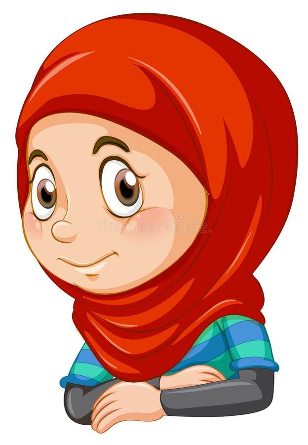 Μισό σώμα του μουσουλμανικού κοριτσιού ελεύθερη απεικόνιση δικαιώματος