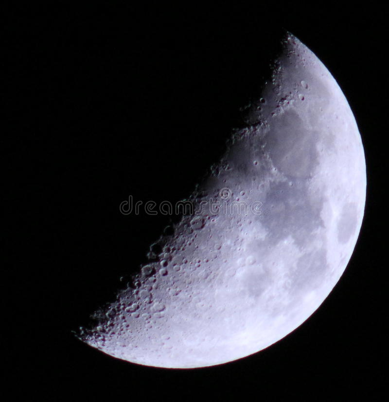 Μισό φεγγάρι στοκ φωτογραφία