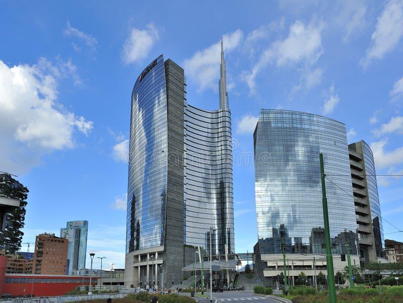 Μιλάνο, Ιταλία, νέος ουρανοξύστης Porta Nuova στοκ εικόνες με δικαίωμα ελεύθερης χρήσης