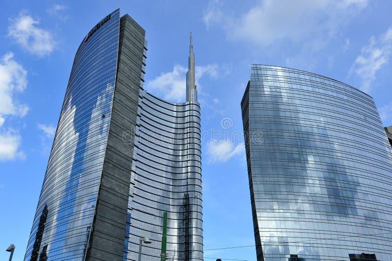 Μιλάνο, Ιταλία, νέος ουρανοξύστης Porta Nuova στοκ φωτογραφίες με δικαίωμα ελεύθερης χρήσης