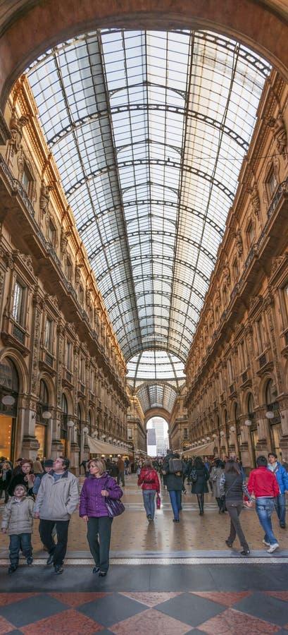 Μιλάνο, Ιταλία. Galeria Vittorio Emanuele ΙΙ στοκ εικόνα με δικαίωμα ελεύθερης χρήσης