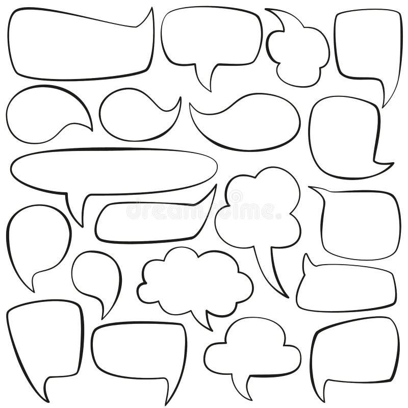 Μιλήστε τις φυσαλίδες διανυσματική απεικόνιση