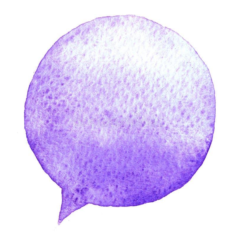 Μιλήστε το μπλε watercolor φυσαλίδων διάνυσμα εικόνας απεικόνισης στοιχείων σχεδίου Συρμένη χέρι ομιλία ελεύθερη απεικόνιση δικαιώματος