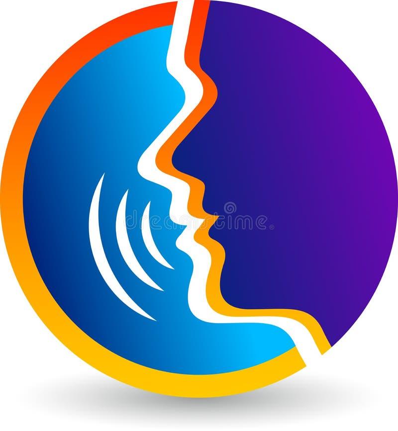 Μιλήστε το λογότυπο διανυσματική απεικόνιση