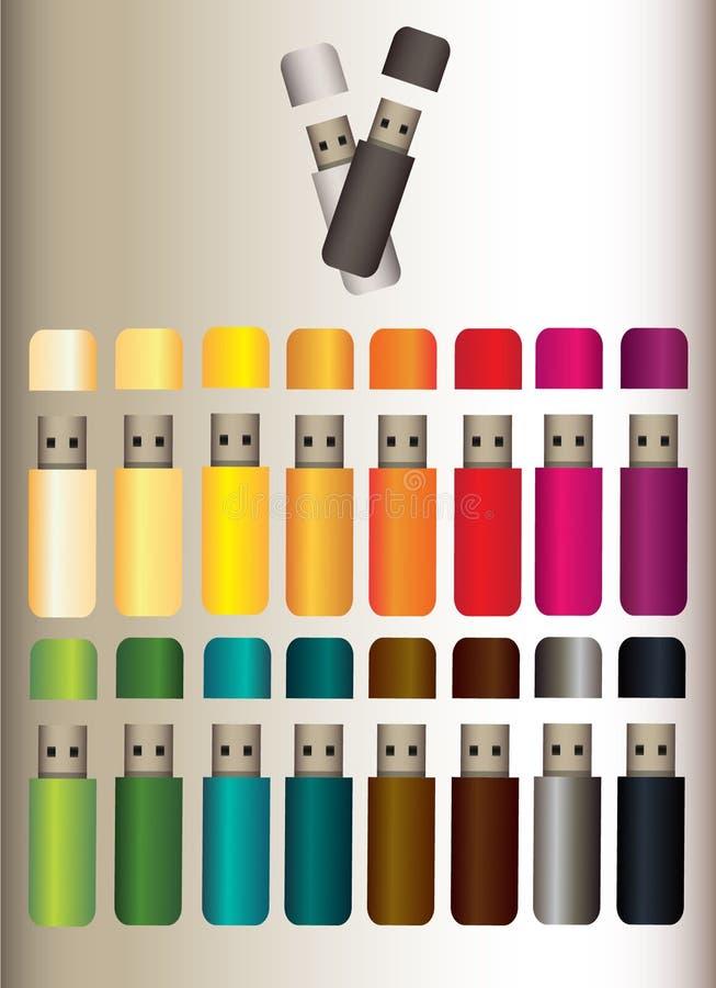 Μνήμες σάρκας σε δέκα έξι διαφορετικά χρώματα ελεύθερη απεικόνιση δικαιώματος
