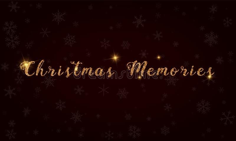 Μνήμες Χριστουγέννων απεικόνιση αποθεμάτων