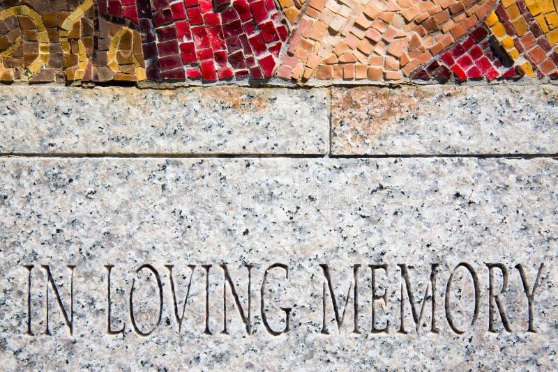 μνήμη αγάπης στοκ εικόνες