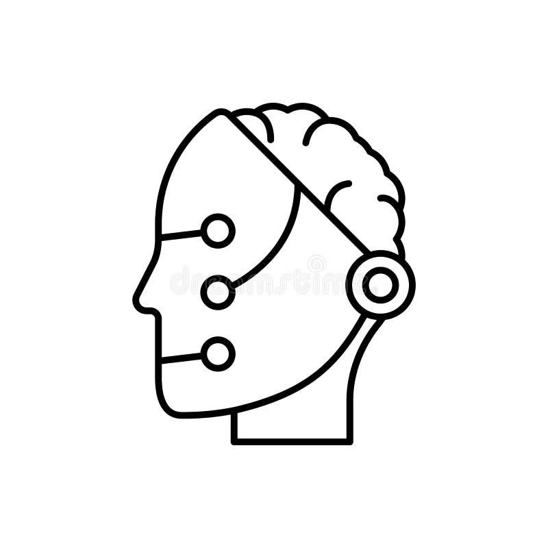 Μνήμη, ρομπότ, νοημοσύνη, έξυπνο εικονίδιο - διάνυσμα   ελεύθερη απεικόνιση δικαιώματος