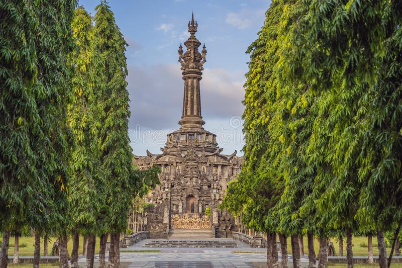Μνημείο ή Monumen Perjuangan Rakyat Μπαλί, Denpasar, Μπαλί, Ινδονησία Sandhi Bajra στοκ φωτογραφία