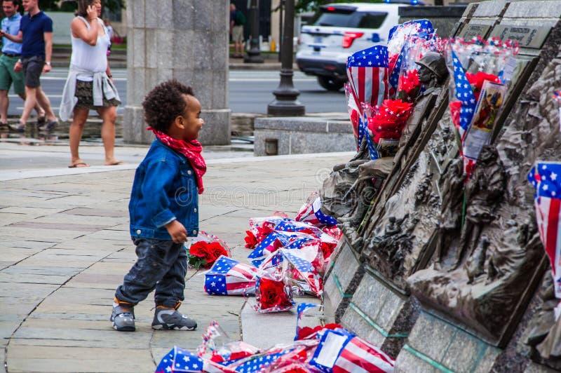 Μνημείο Αμερικανικού Ναυτικό, ΗΠΑ στοκ φωτογραφίες