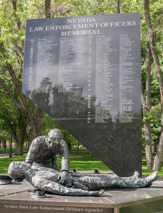 Μνημείο αξιωματούχων επιβολής νόμου της Νεβάδας στοκ φωτογραφίες