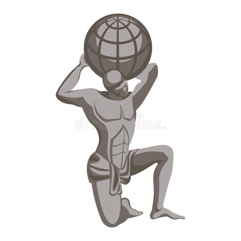 Μνημείο ατλάντων, ελληνικός χαρακτήρας μυθολογίας Τιτάνας που καταδικάζεται για να κρατήσει τον ουρανό ελεύθερη απεικόνιση δικαιώματος