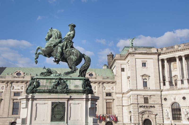 Μνημείο αλόγων και αναβατών (αρχιδούκας Charles/Erzherzog Karl) - Βιέννη/Wien Αυστρία στοκ φωτογραφίες