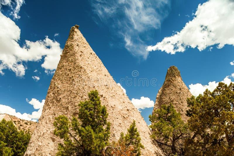 Μνημείο βράχου σκηνών, Νέο Μεξικό, ΗΠΑ στοκ εικόνες