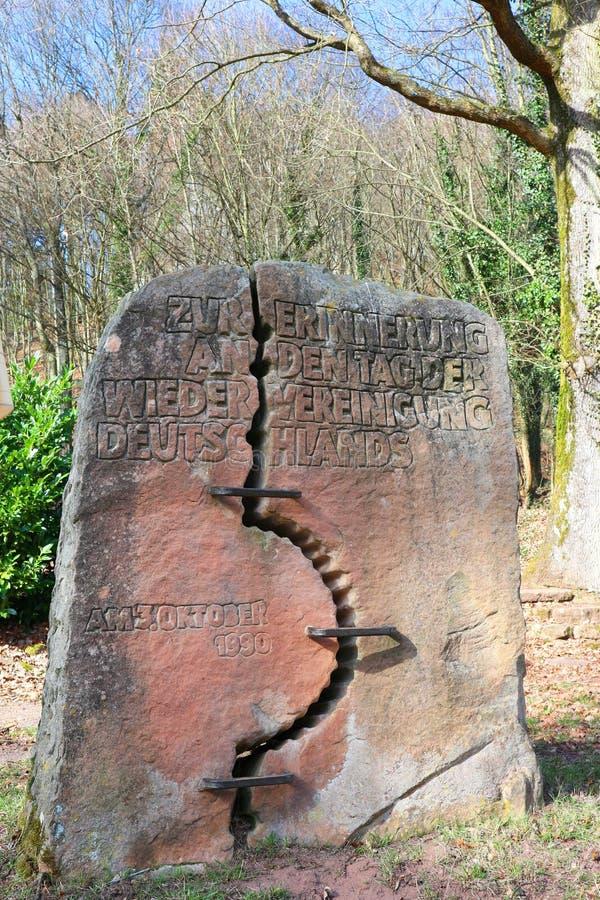 Μνημείο για την επανένωση των Ανατολικών και Δυτικών Γερμανιών στοκ εικόνες