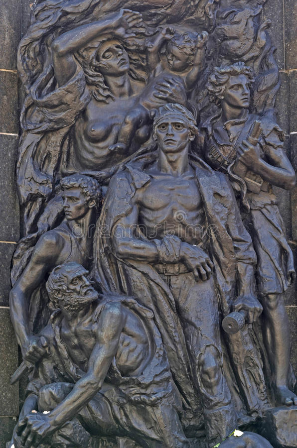 Μνημείο γκέτο της Βαρσοβίας στοκ εικόνες με δικαίωμα ελεύθερης χρήσης