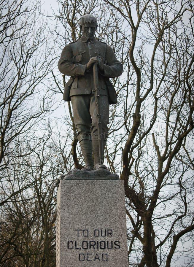 Μνημείο Δεύτερου Παγκόσμιου Πολέμου στους λαμπρούς νεκρούς μας στοκ φωτογραφία με δικαίωμα ελεύθερης χρήσης