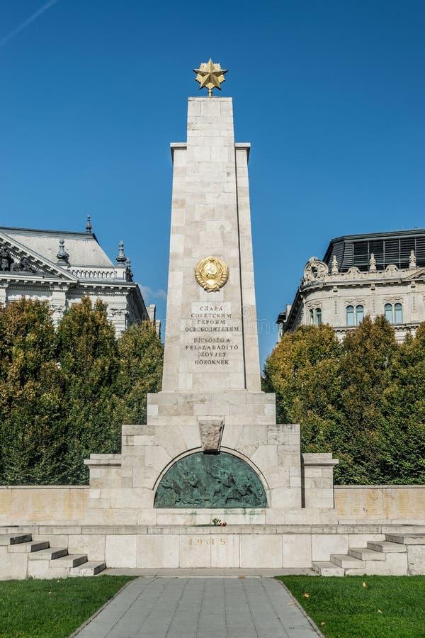 Μνημείο Δόξα στους Σοβιετικούς ήρωες απελευθερωτές, Βουδαπέστη στοκ φωτογραφίες