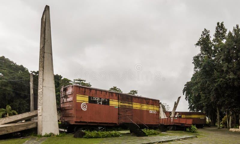 Μνημείο θωρακισμένων τραίνων, Σάντα Κλάρα, Κούβα στοκ εικόνα με δικαίωμα ελεύθερης χρήσης