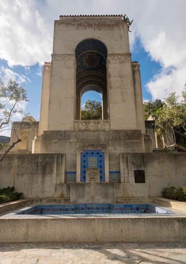 Μνημείο και βοτανικοί κήποι Wrigley στη Catalina Island στοκ φωτογραφία