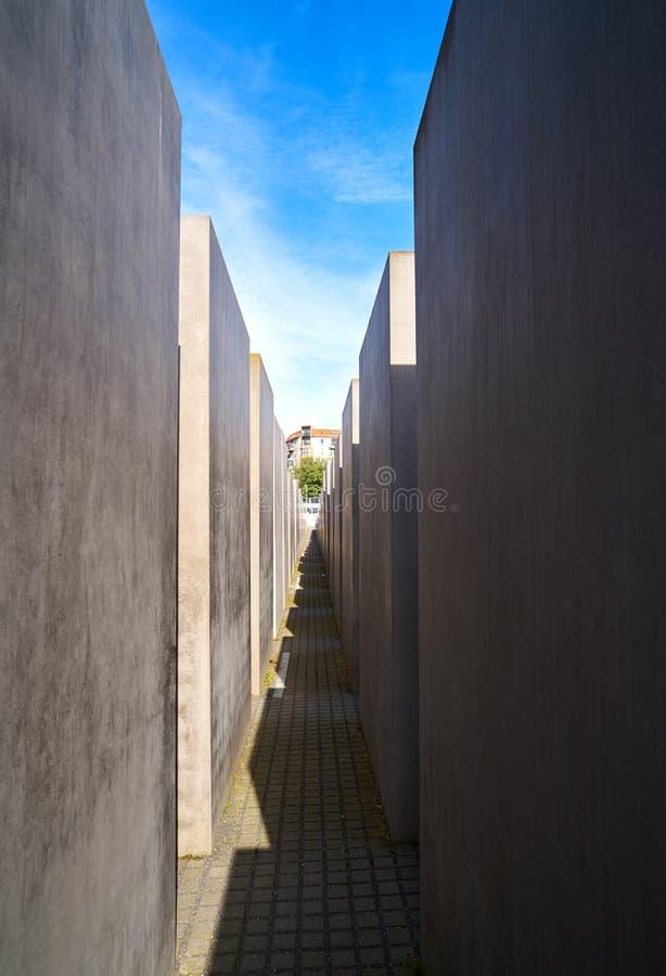 Μνημείο ολοκαυτώματος του Βερολίνου στους δολοφονημένους Εβραίους στοκ φωτογραφίες με δικαίωμα ελεύθερης χρήσης