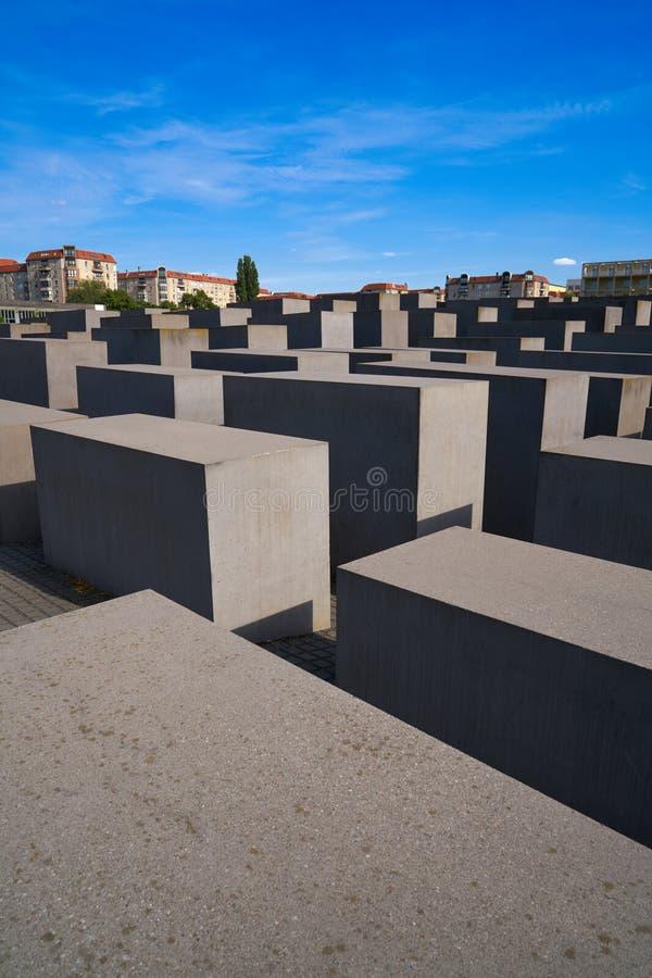 Μνημείο ολοκαυτώματος του Βερολίνου στους δολοφονημένους Εβραίους στοκ εικόνα