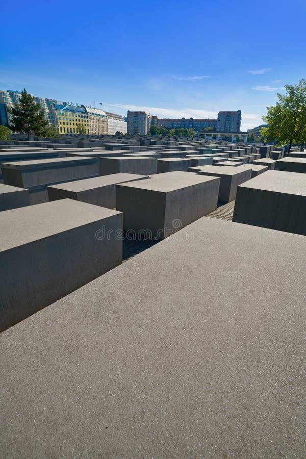 Μνημείο ολοκαυτώματος του Βερολίνου στους δολοφονημένους Εβραίους στοκ εικόνες