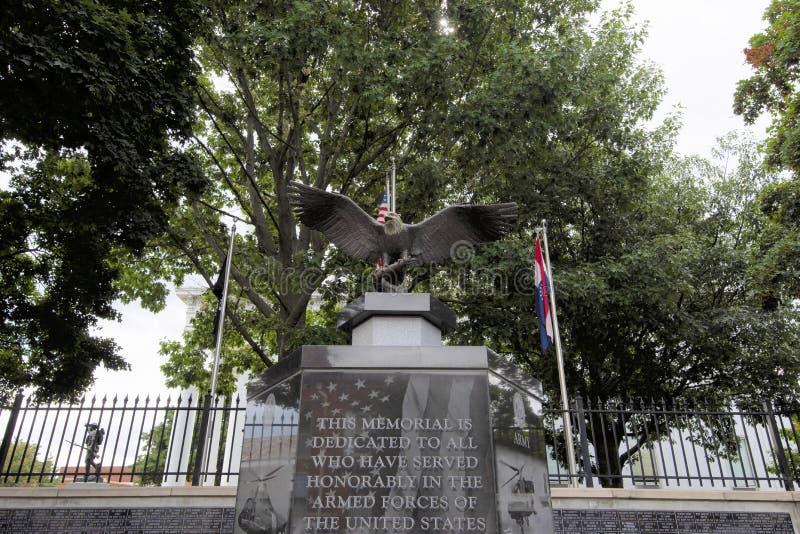 Μνημείο οπλισμένων δυνάμεων στοκ εικόνες