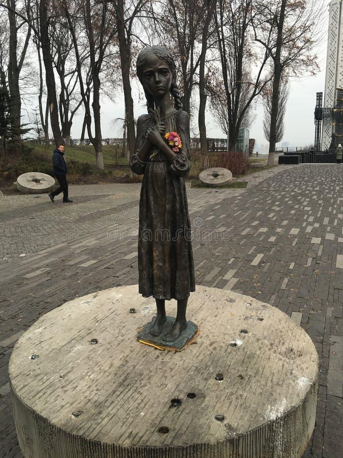 Μνημείο παιδιών στο Κίεβο στοκ φωτογραφία με δικαίωμα ελεύθερης χρήσης